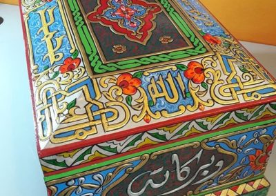 صندوق عجمي فن دمشقي damascene art box