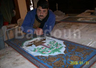 Azem Palace restoration work
