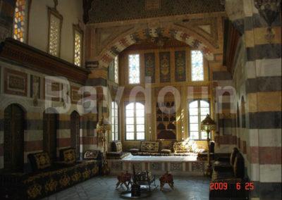 Azem  Azem Palace hamah restoration work  golden hall
