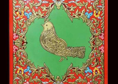 ajami handmade art painting لوحة عجمي بسم الله الرحمن الرحيم