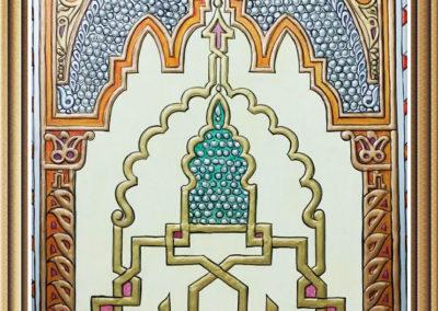 ajami handmade art painting لوحة عجمي زخرفة اندلسية